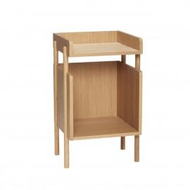 table de chevet design scandinave epure bois clair hubsch