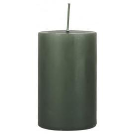 Bougie longue durée cylindre IB Laursen 10 cm vert