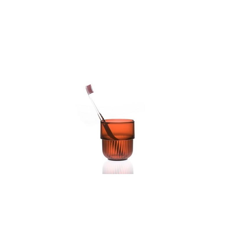 Gobelets salle de bains rouge design authentics kali for Porte gobelet salle de bain