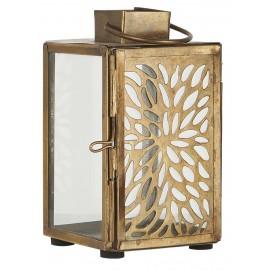 petite lanterne metal ajoure dore verre style vintage ib laursen