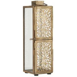 lanterne haute metal ajoure laiton dore decorative ib laursen