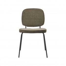 house doctor carma chaise epuree design scandinave textile brun marron