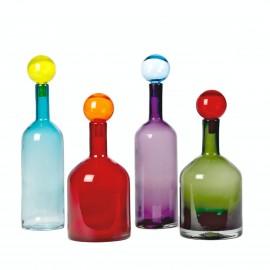 pols potten carafes bubbles and bottles set de 4 multicolore