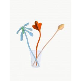 studio roof bouquet 3 fleurs en carton automn tango