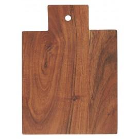 ib laursen planche a decouper bois acacia huile poignee avec trou
