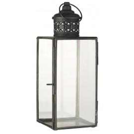 lanterne vintage metal noir verre filigrane ib laursen