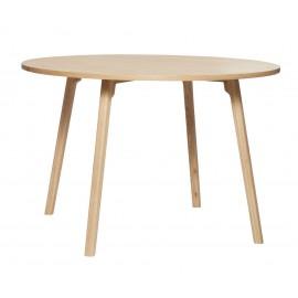 hubsch table ronde moderne bois clair salle a manger design scandinave