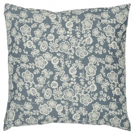 Taie d'oreiller coton fleuri IB Laursen bleu