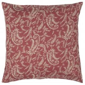 Housse de coussin coton imprimé IB Laursen rouge
