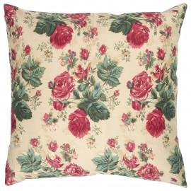 taie d oreiller coton grosses fleurs roses ib laursen 50 x 50 cm
