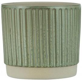 cache pot gres strie vert clair olive b laursen
