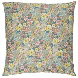 grande taie oreiller coussin fleuri bleu jaune rose ib laursen