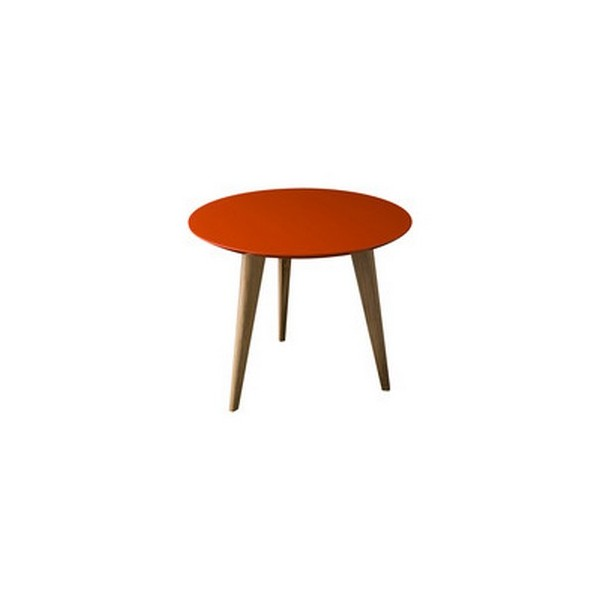 Table basse ronde rouge lalinde sentou d 45 - Table basse ronde rouge ...