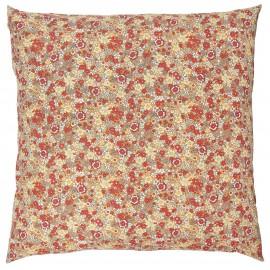 taie d oreiller coton fleuri orange 60 x 60 cm ib laursen