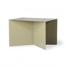Table basse rectangulaire tôle pliée HK Living vert