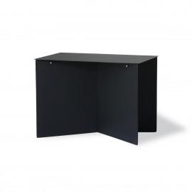 hk living table basse rectangulaire design tole pliee origami noir