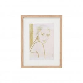 hk living stella tableau portrait femme cadre bois