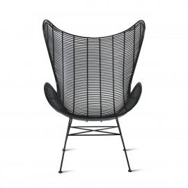 hk living egg chair fauteuil plastique noir