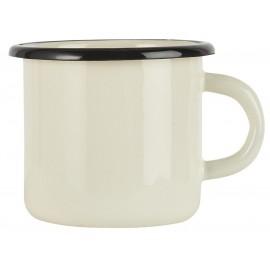 mug metal emaille vintage blanc ib laursen