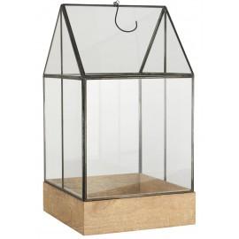 mini serre d interieur verre metal noir bois ib laursen