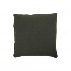 house doctor sai housse de coussin lin coton vert fonce 50 x 50 cm