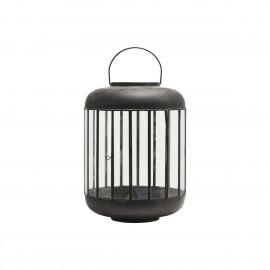 house doctor pamal grande lanterne ronde metal noir vintage