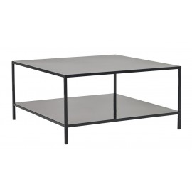 house doctor fari grande table basse carree metal noir style industriel