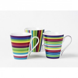Mug à café multicolore set 3