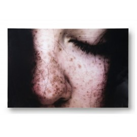 hk living freckles tableau photo visage taches de rousseur plexiglas