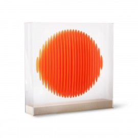 hk living tableau a poser cercle 3d orange plexiglas