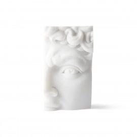 hk living david fragment de sculpture résine blanc objet decoration