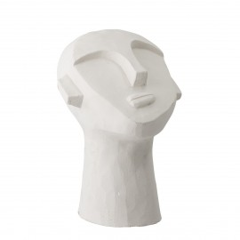 bloomingville  sculpture statue tete en beton blanc