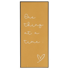 plaque deco metal message zen one thing at a time ib laursen