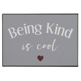 plaque decorative metal message being kind is cool ib laursen