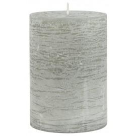 bougie cylindre rustique gris clair ib laursen