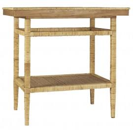 table console avec etagere rangement bambou tresse ib laursen