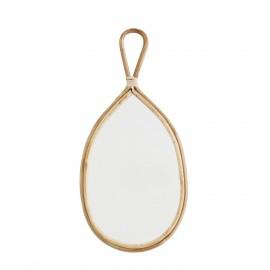 madam stoltz miroir ovale bois de bambou