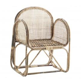 madam stoltz fauteuil bois de bambou tresse