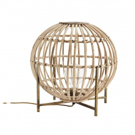 Lampe à poser ronde bambou Madame Stoltz