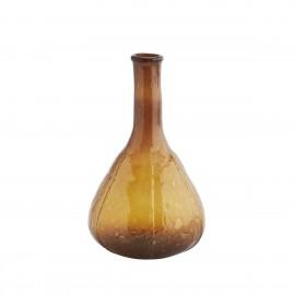madam stoltz vase verre souffle recyclé ambre marron fiole vintage