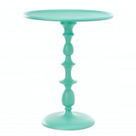 pols potten gueridon table d appoint metal aluminium bleu turquoise