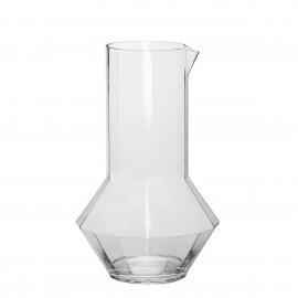 Carafe design verre transparent Hübsch