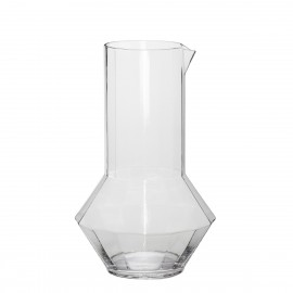 carafe design verre transparent hubsch