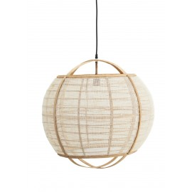 suspension bambou lin ronde sphere boule madam stoltz