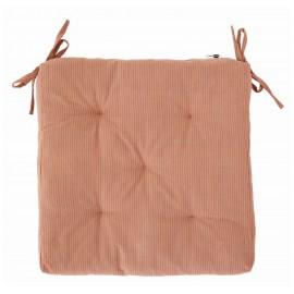 coussin carre de chaise coton rose rayures fines madam stoltz