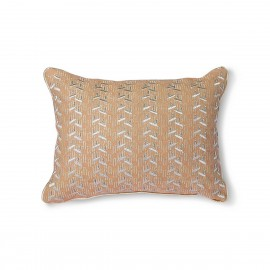 Petit coussin broderie HK Living nude argent