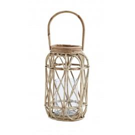 lanterne bois de bambou rustique style campagne madam stoltz