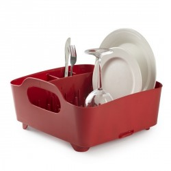 Egouttoir à vaisselle design rouge tub umbra
