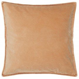 housse de coussin velours saumon corail orange ib laursen