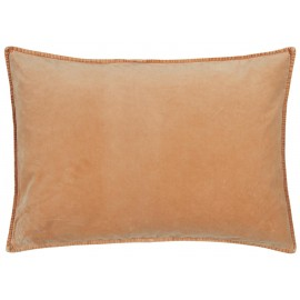 grande housse coussin velours saumon corail orange pastel ib laursen